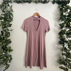 🆕Hearts & Hips Keyhole T-shirt Dress Pink
